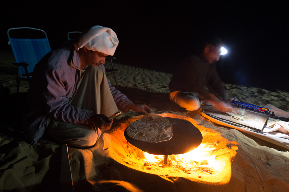 Baking breads in the Western desert of Egypt, 2013