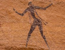 ROCK ART IN THE TIBESTI MASSIF         ティベスティ山地の岩壁画